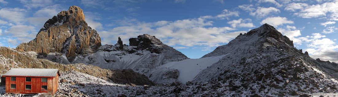 Panorama Austria Hut (picture by Rodney Garrard)