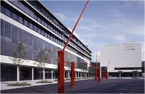 The buildings 21 and 22 of the Campus Pérolles 2